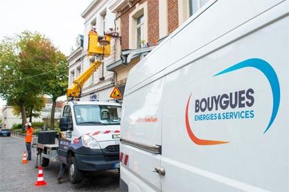 Intervention efficace sur l'éclairage public de la ville de Valenciennes par la société Bouygues Énergies & Services.